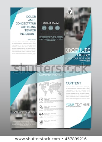 blue brochure flyer cover page template for annual report in siz Stock photo © SArts