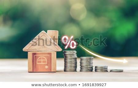 Hypothèque taux plan planification maison pourcentage Photo stock © Lightsource