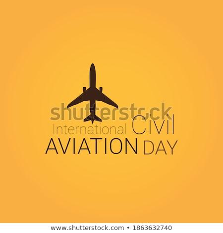 Airbus civile aviazione piano vettore illustrazione Foto d'archivio © Andrei_