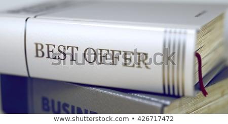 O melhor oferecer negócio livro título 3D Foto stock © tashatuvango