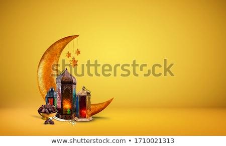 creative eid moon design in golden color Stock photo © SArts