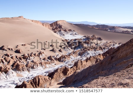 ラ · チリ · 風景 · 砂漠 · オレンジ · 青 - ストックフォト © daboost