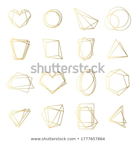 Golden irregular rounded lines background. Stock photo © m_pavlov