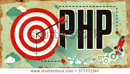 PHP on Grunge Poster. Stock photo © tashatuvango