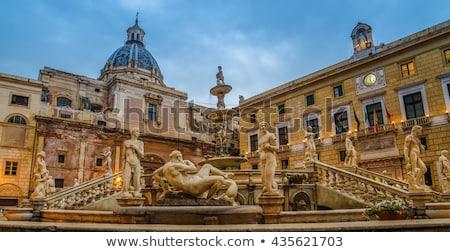 Praça vergonha sicília mármore flores edifício Foto stock © ankarb