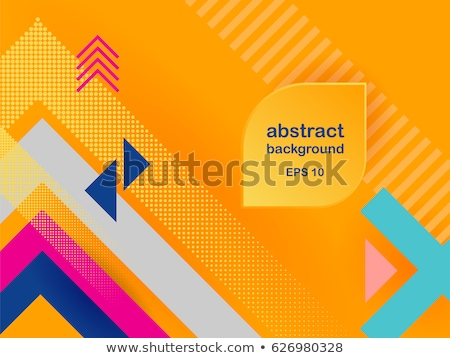 Brilhante cor cobrir triângulo formas amarelo Foto stock © igor_shmel