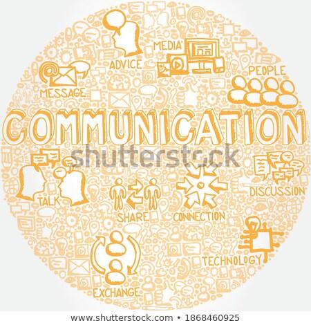 ikili · kod · kelime · ağ · bilim · iletişim - stok fotoğraf © tashatuvango