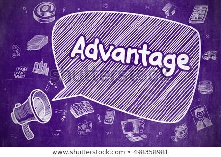 Ventaja dibujado a mano ilustración púrpura pizarra negocios Foto stock © tashatuvango