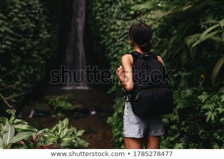 美女 女子 熱帶 森林 水 手 商業照片 © konradbak