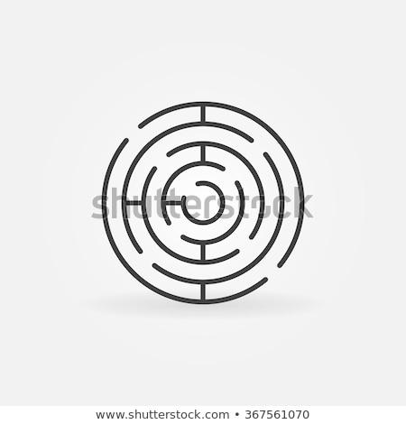 Lineáris labirintus ikon megállapítás út stratégia Stock fotó © pakete
