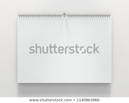 üres · papír · brosúra · árnyékok · izolált · fehér · felfelé - stock fotó © user_11870380