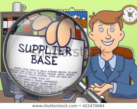 Supplier Base through Lens. Doodle Style. Stock photo © tashatuvango