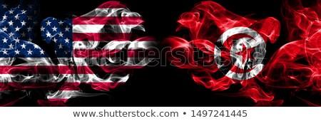 Futebol chamas bandeira Tunísia preto ilustração 3d Foto stock © MikhailMishchenko