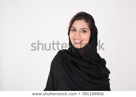 Güzel suudi kadın gözler Stok fotoğraf © keeweeboy
