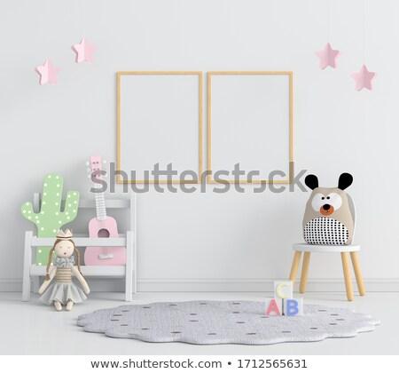 Szablon cute lalek ilustracja tle Zdjęcia stock © bluering