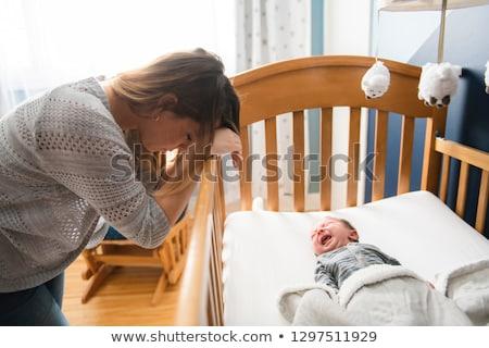 újszülött fiú sír szomorúság gyermekkor egy személy Stock fotó © IS2