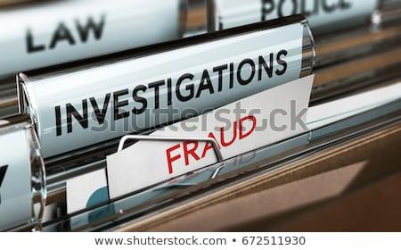 seguro · fraude · rojo · blanco · dinero - foto stock © lightsource