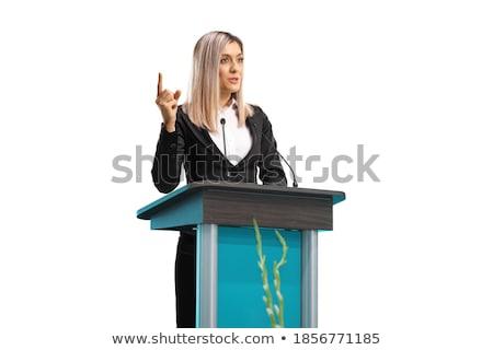 Işkadını konuşma kurumsal iş adamları yalıtılmış Stok fotoğraf © studioworkstock