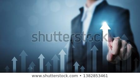 красный · тенденция · символ · бизнеса · рецессия · финансовый · кризис - Сток-фото © psychoshadow
