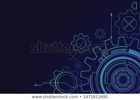 Inżynierii narzędzi tapety niebieski ilustracja tle Zdjęcia stock © bluering