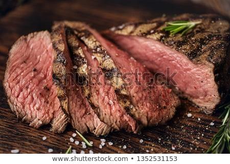 Primer plano alimentos carne comer filete Foto stock © phila54