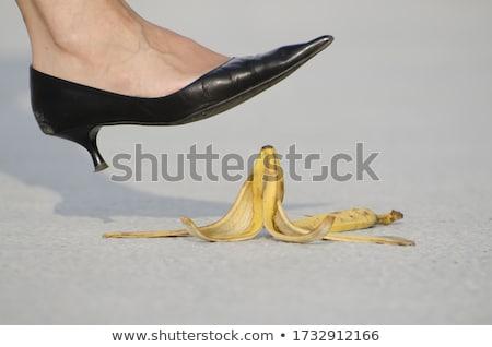 女性 下がり バナナ ピール ダウン 階 ストックフォト © Kakigori