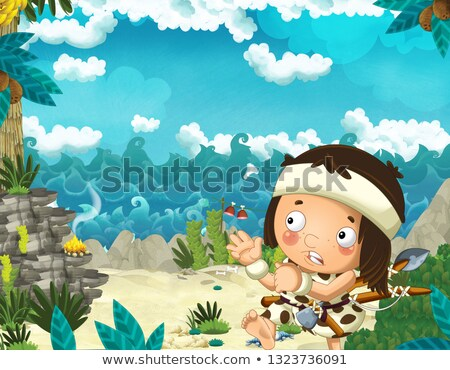 Prehistoric Sea Shore Scene Stock photo © lenm