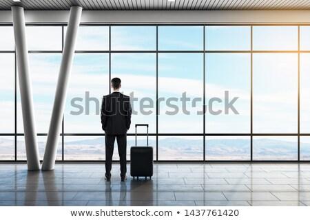 Repülőtér vár bent kilátás utazás repülőgép Stock fotó © alexaldo