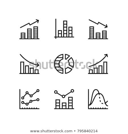 データ 分析 1 在庫 行 グラフ ストックフォト © kyryloff