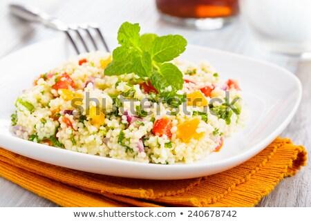 tabbouleh, semolina with vegetable Stock photo © M-studio