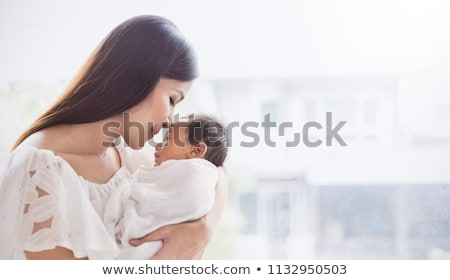 Amamentação bandeira mãe recém-nascido bebê mentiras Foto stock © robuart