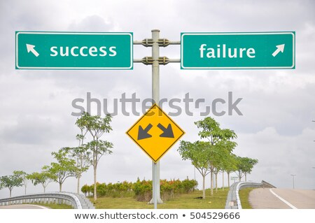 success and failure road sign stock photo © speedfighter
