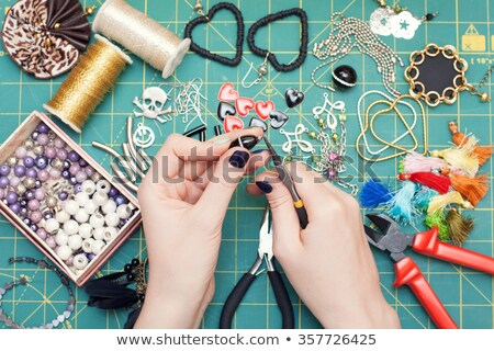 Making home made jewelry Stock photo © backyardproductions