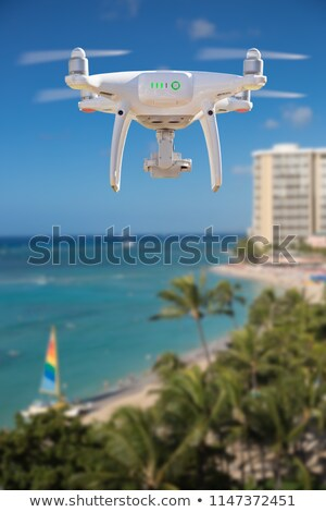 Drone Flying Above Waikiki Beach in Hawaii Stock photo © feverpitch