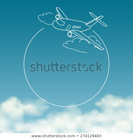 Aviation Blue Banner Stock photo © alexaldo