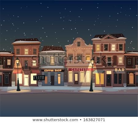 Vintage · зданий · зима · снега · старые · лесное · хозяйство - Сток-фото © liolle