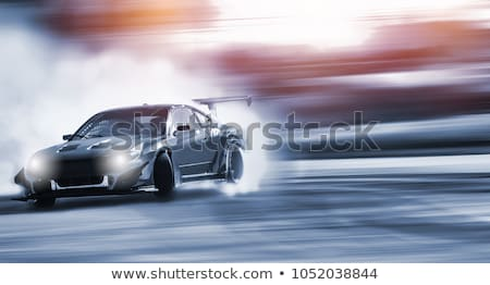 power racing sport car drifting on race track stock photo © jossdiim
