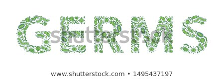 Cartoon Bug Germ Text Stock photo © cthoman