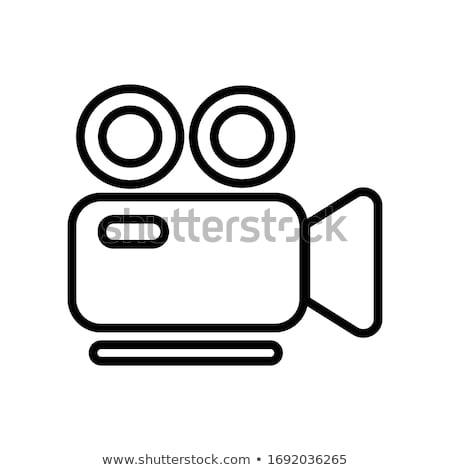 3d movie camera icon Stock photo © angelp