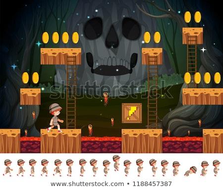 サファリ 少年 ゲーム 実例 背景 芸術 ストックフォト © bluering