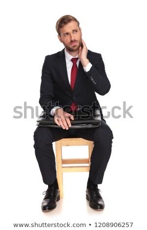бизнесмен шее вверх сторона Сток-фото © feedough