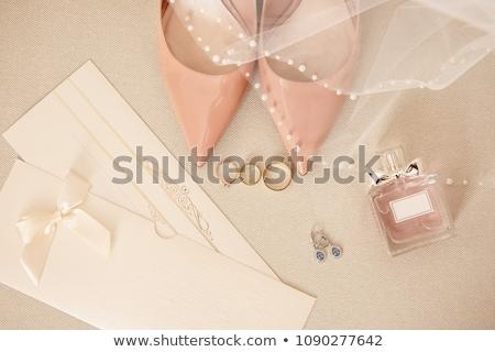 vestido · de · noiva · manhã · noiva · renda · moda - foto stock © ruslanshramko
