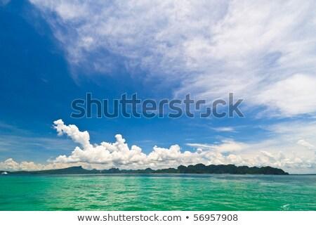 Beautful Sky And Clear Sea Stok fotoğraf © SuriyaPhoto