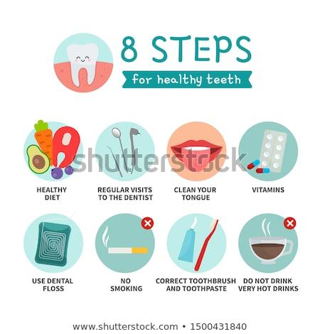 dents · formation · affiche · dentaires · détaillée · diagramme - photo stock © tefi