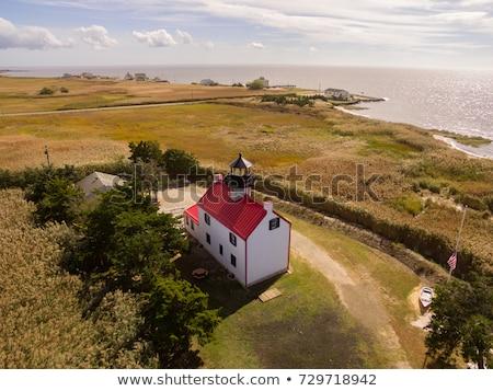 Point phare New Jersey USA herbe bâtiment Photo stock © benkrut