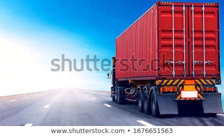 truck with red container stock photo © ssuaphoto