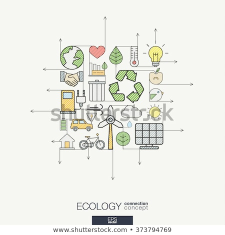 recycling   modern line design style colorful illustration stock photo © decorwithme