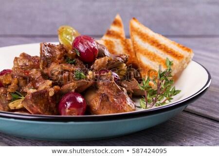 ızgara ördek karaciğer krep gıda akşam yemeği Stok fotoğraf © grafvision