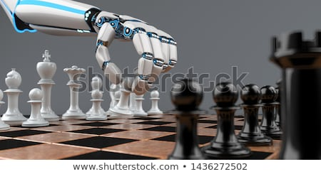 Robot Hand Chessboard Stock photo © limbi007
