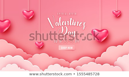 valentines day greeting in papercut style Stock photo © SArts